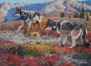 elk-wolves