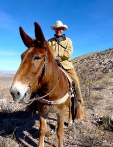 Rick Knight and his mule, Dottie. Courtesy Rick Knight.