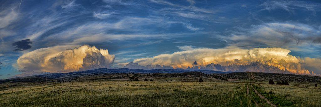 Pilot Hill land at sunset